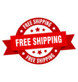 free shipping ribbon free shipping round red sign vector image vector image