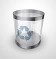 glass recycle bin vector image