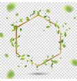 golden frame with leaves vector image vector image