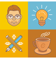 graphic designer icons and signs vector image vector image