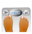 Graphic of Feet on a Scale Machine
