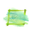 green watercolor grunge frame vector image
