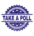 Grunge textured take a poll stamp seal