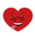 heart eyes heart cartoon icon vector image vector image