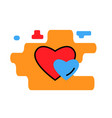 heart icon trendy modern concept relationship vector image vector image