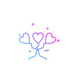 heart love heart balloon icon design vector image vector image