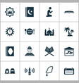 holiday icons set collection of person man vector image