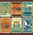 horse riding race sport posters vector image vector image