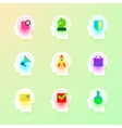 Human Brain Icons Set for Business Plan Strategy vector image vector image