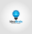 idea brain - smart education logo vector image