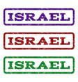 israel watermark stamp vector image