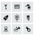 Key icon set vector image vector image