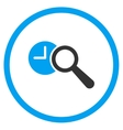 Locate Time Circled Icon vector image vector image