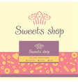 logo business card for a candy store vector image vector image