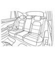 machine inside interior of the vehicle vector image vector image