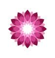 magenta flower shades symbol graphic geometric vector image vector image