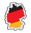 map of germany with its flag vector image vector image