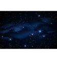 Milky way galaxy with stars vector image vector image