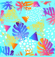 modern background in 80s 90s pop art style vector image