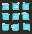 modern sale banners and labels collection 04 vector image