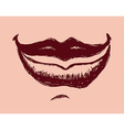 mouth design vector image