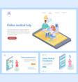 online medical services website template vector image