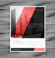 Red and black modern brochure flyer design