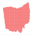 red dot map of ohio vector image