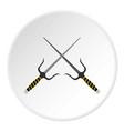 sai weapon icon circle vector image vector image