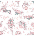 seamless pattern modern botanical vector image