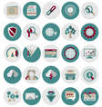 SEO and Marketing Icons Set2 vector image vector image