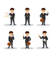 set character businessman vector image vector image