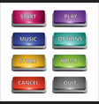 set of 8 coloured buttons for multi purposes vector image