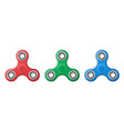 set of hand fidget spinner toys - stress and vector image
