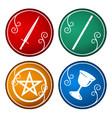 set of tarot symbol vector image