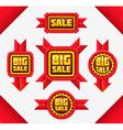 set red sale badges vector image vector image