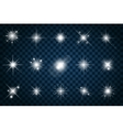 Shine stars with glitters and sparkles vector image vector image