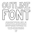 simple contour black alphabet isolated on white vector image vector image