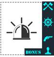 siren icon flat vector image vector image