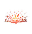 spring religious holiday celebration vector image