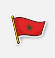 sticker national flag morocco vector image vector image