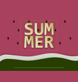 summer background with close up of watermelon vector image vector image