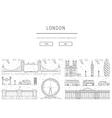 symbols of London vector image vector image