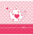 Teapot background vector image vector image