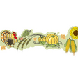 thanksgiving banner vector image vector image