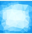 Triangle neutral blue and white abstract vector image vector image