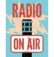 Typographic retro grunge radio station poster vector image vector image