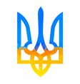 Ukranian trident traditional vector image vector image