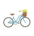 urban bicycle or city bike with step-through frame vector image