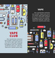 vape club promotional vertical posters with vector image